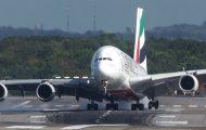 Προσγείωση Airbus A380 με θυελλώδεις ανέμους