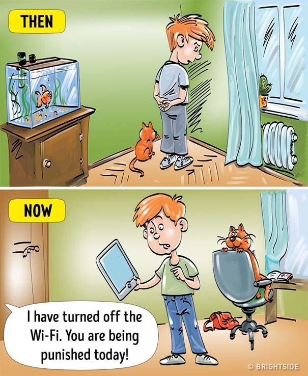 Σκίτσα που δείχνουν πόσο διαφέρει η σημερινή παιδική ηλικία σε σχέση με τη δική μας (2)