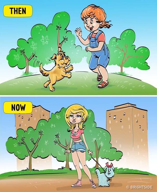 Σκίτσα που δείχνουν πόσο διαφέρει η σημερινή παιδική ηλικία σε σχέση με τη δική μας (3)