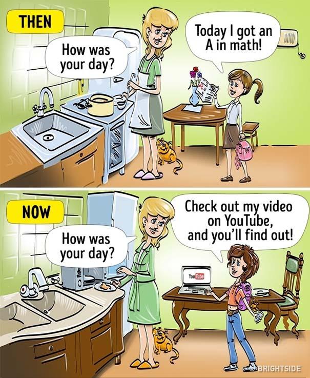 Σκίτσα που δείχνουν πόσο διαφέρει η σημερινή παιδική ηλικία σε σχέση με τη δική μας (4)