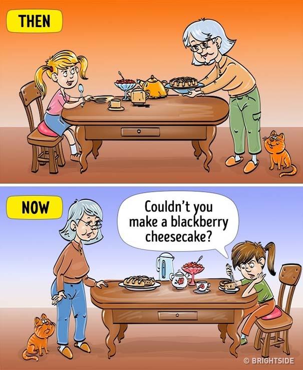 Σκίτσα που δείχνουν πόσο διαφέρει η σημερινή παιδική ηλικία σε σχέση με τη δική μας (7)