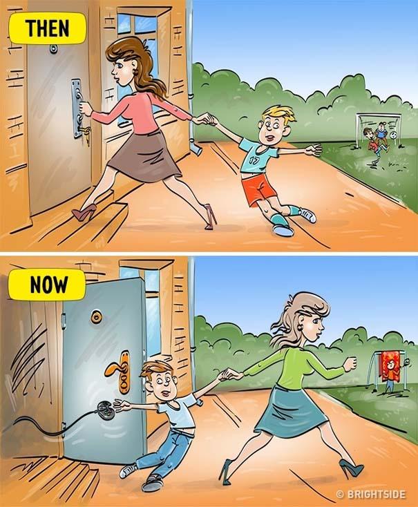 Σκίτσα που δείχνουν πόσο διαφέρει η σημερινή παιδική ηλικία σε σχέση με τη δική μας (9)