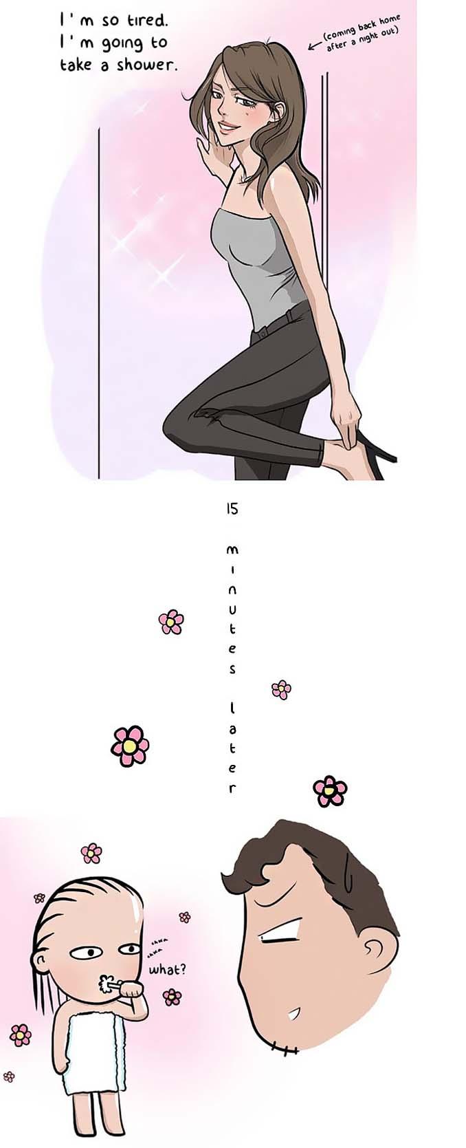 Χιουμοριστικά σκίτσα δείχνουν τι συμβαίνει όταν νιώσεις άνετα σε μια σχέση (3)