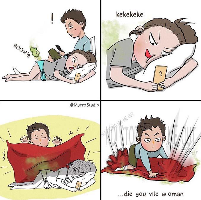 Χιουμοριστικά σκίτσα δείχνουν τι συμβαίνει όταν νιώσεις άνετα σε μια σχέση (4)