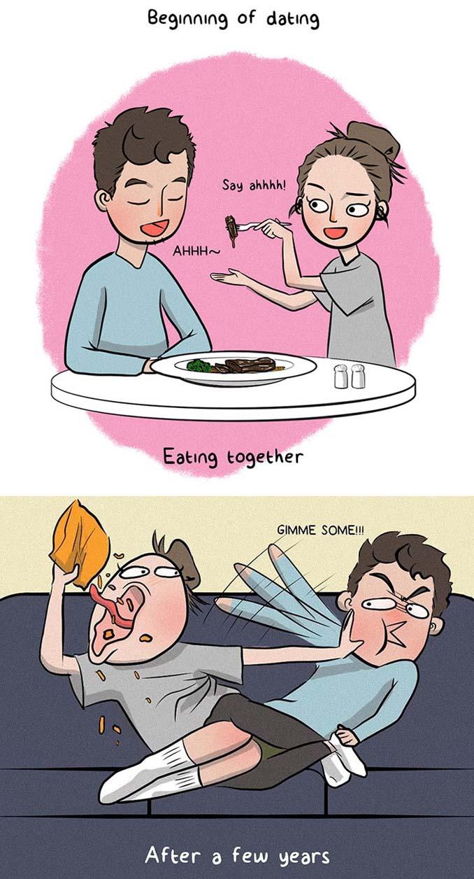 Χιουμοριστικά σκίτσα δείχνουν τι συμβαίνει όταν νιώσεις άνετα σε μια σχέση (7)