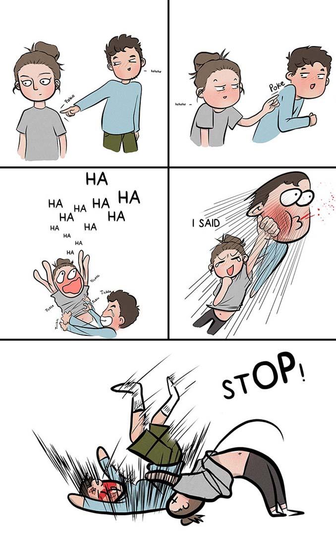 Χιουμοριστικά σκίτσα δείχνουν τι συμβαίνει όταν νιώσεις άνετα σε μια σχέση (9)