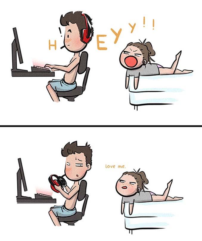 Χιουμοριστικά σκίτσα δείχνουν τι συμβαίνει όταν νιώσεις άνετα σε μια σχέση (11)