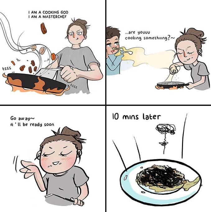 Χιουμοριστικά σκίτσα δείχνουν τι συμβαίνει όταν νιώσεις άνετα σε μια σχέση (12)