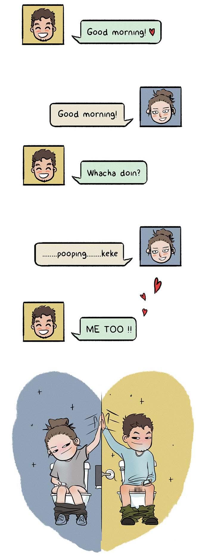 Χιουμοριστικά σκίτσα δείχνουν τι συμβαίνει όταν νιώσεις άνετα σε μια σχέση (13)