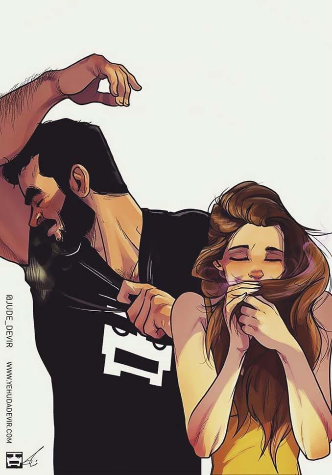 Καλλιτέχνης σκιτσογραφεί τη ζωή με τη γυναίκα του (18 νέα χιουμοριστικά comics) (4)