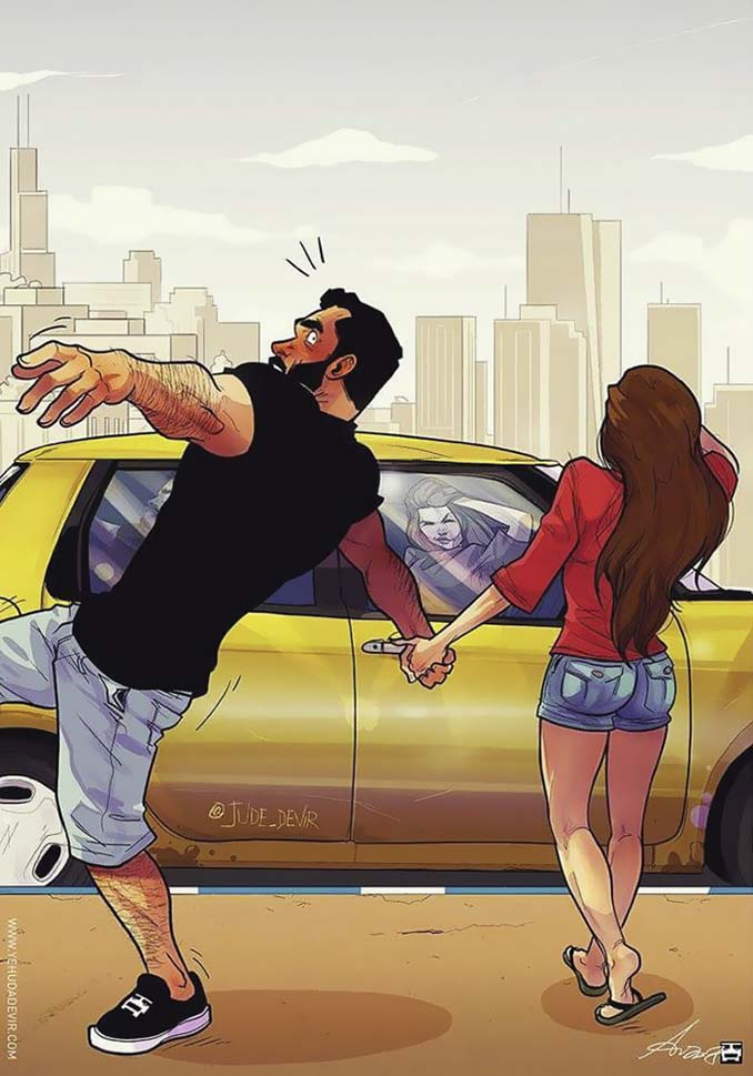 Καλλιτέχνης σκιτσογραφεί τη ζωή με τη γυναίκα του (18 νέα χιουμοριστικά comics) (7)