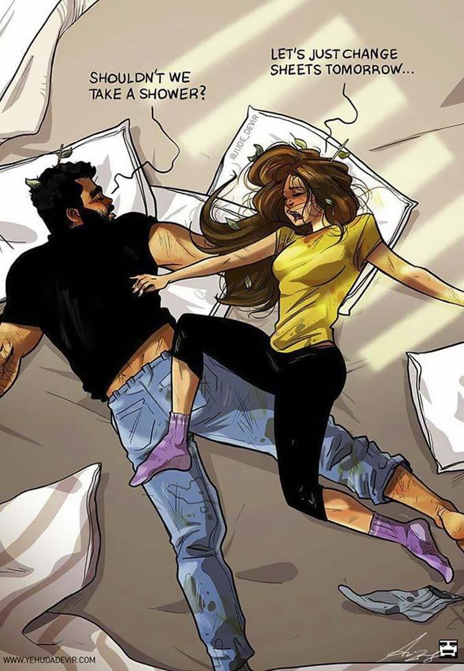 Καλλιτέχνης σκιτσογραφεί τη ζωή με τη γυναίκα του (18 νέα χιουμοριστικά comics) (10)