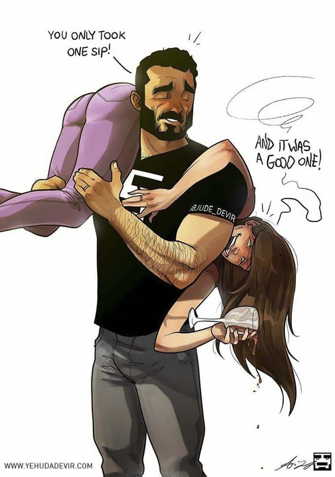 Καλλιτέχνης σκιτσογραφεί τη ζωή με τη γυναίκα του (18 νέα χιουμοριστικά comics) (11)