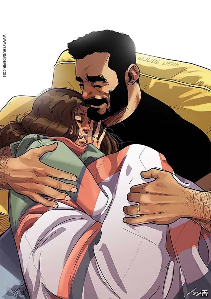 Καλλιτέχνης σκιτσογραφεί τη ζωή με τη γυναίκα του (18 νέα χιουμοριστικά comics) (15)