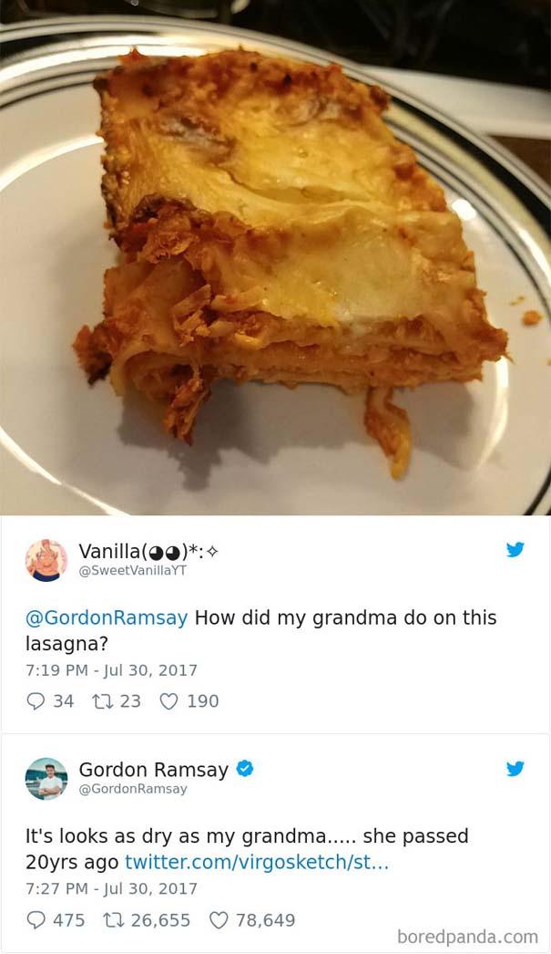 Ερασιτέχνες σεφ τουιτάρουν την μαγειρική τους στον Gordon Ramsay και αυτός τους απαντάει (4)
