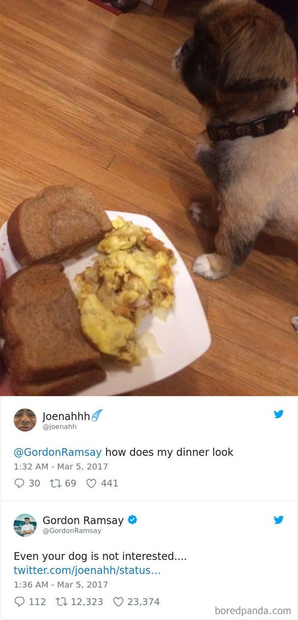 Ερασιτέχνες σεφ τουιτάρουν την μαγειρική τους στον Gordon Ramsay και αυτός τους απαντάει (8)