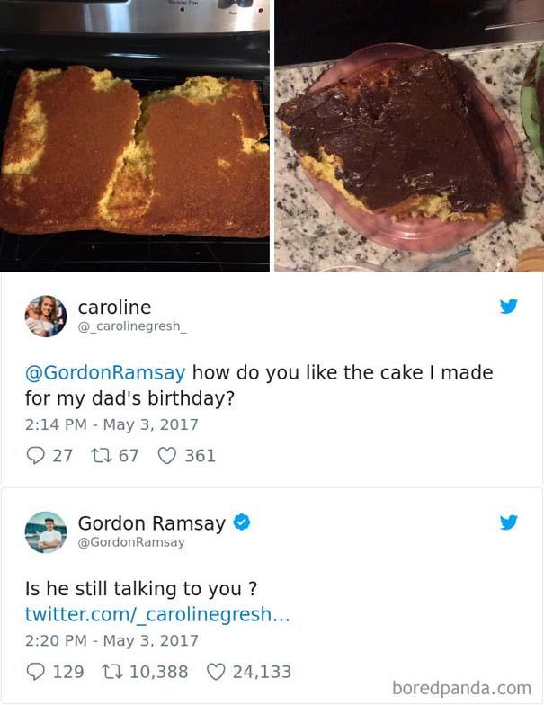 Ερασιτέχνες σεφ τουιτάρουν την μαγειρική τους στον Gordon Ramsay και αυτός τους απαντάει (10)