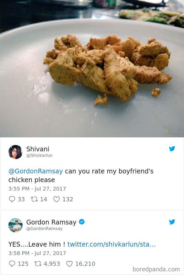 Ερασιτέχνες σεφ τουιτάρουν την μαγειρική τους στον Gordon Ramsay και αυτός τους απαντάει (13)
