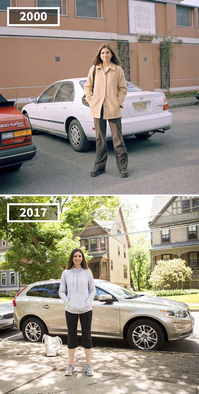 Φωτογράφισε τους φίλους της το 2000 και το 2017 (1)