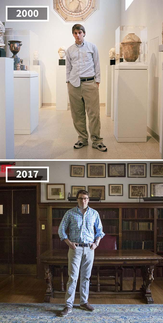 Φωτογράφισε τους φίλους της το 2000 και το 2017 (3)