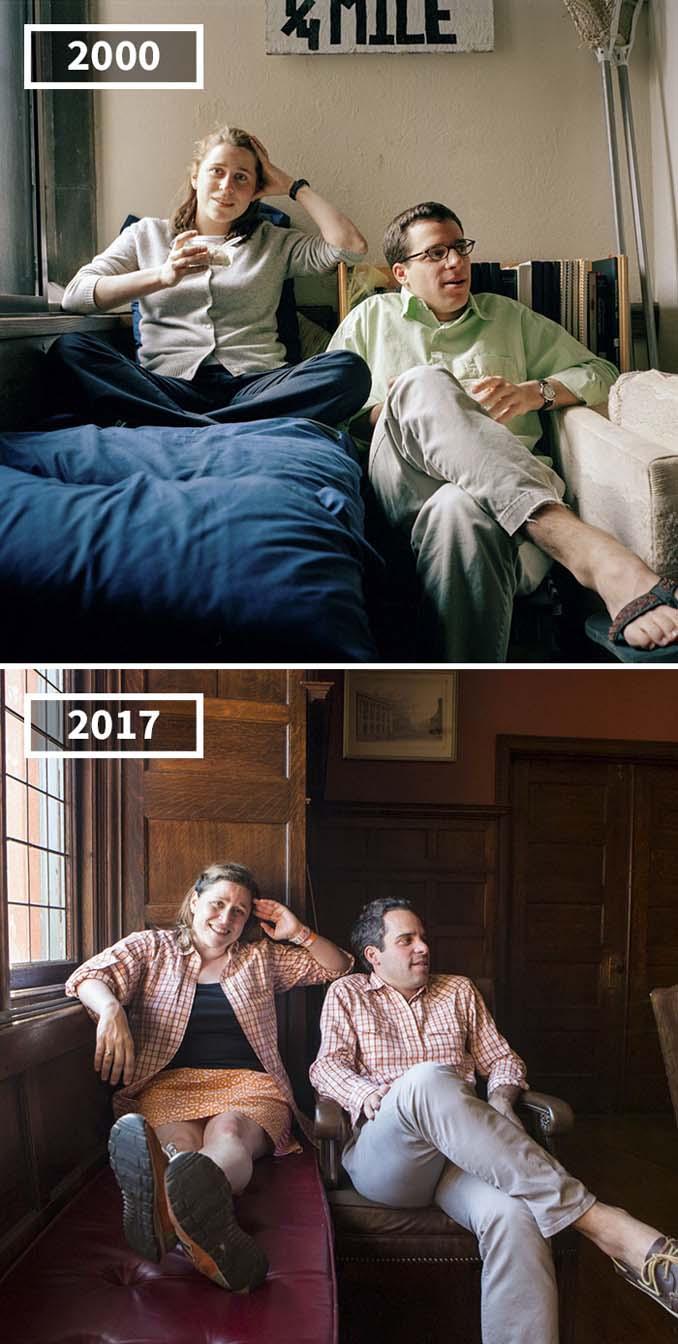 Φωτογράφισε τους φίλους της το 2000 και το 2017 (4)