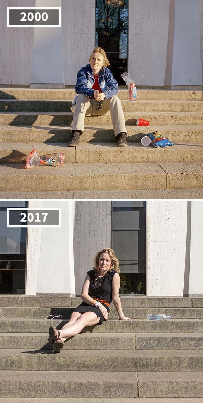 Φωτογράφισε τους φίλους της το 2000 και το 2017 (5)