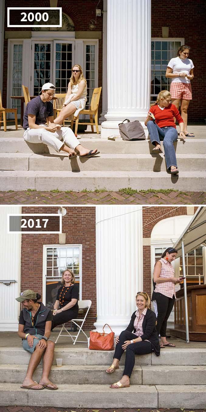 Φωτογράφισε τους φίλους της το 2000 και το 2017 (10)