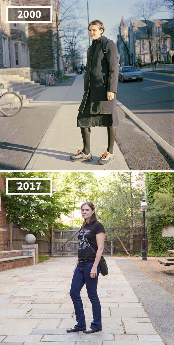 Φωτογράφισε τους φίλους της το 2000 και το 2017 (11)