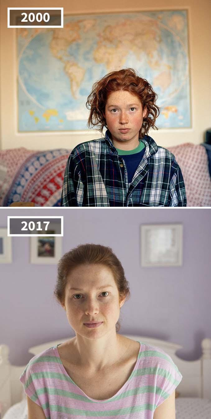 Φωτογράφισε τους φίλους της το 2000 και το 2017 (12)