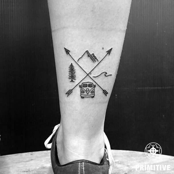 Πανέμορφα τατουάζ για τους λάτρεις των ταξιδιών (1)