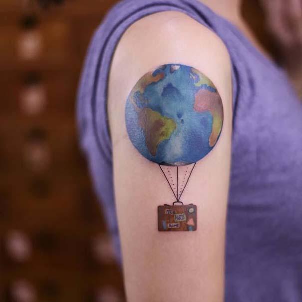 Πανέμορφα τατουάζ για τους λάτρεις των ταξιδιών (21)