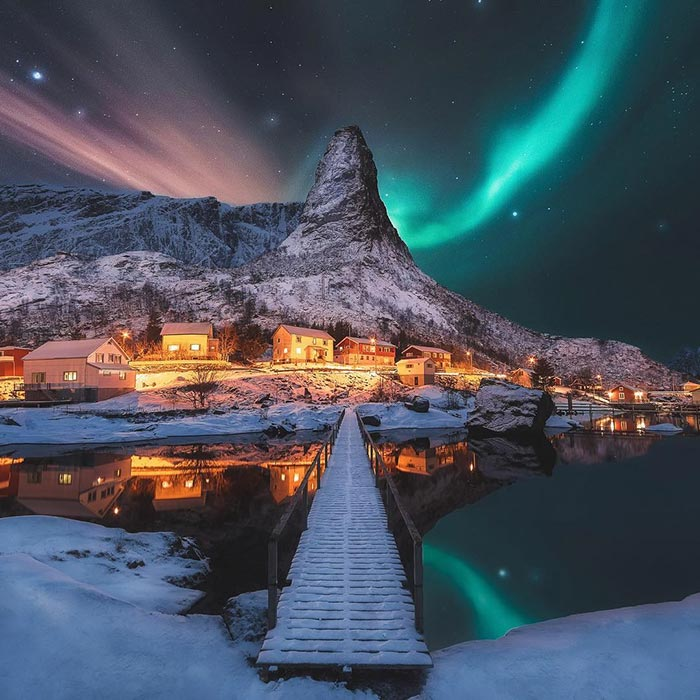Μαγικό τοπίο στο Reine της Νορβηγίας | Φωτογραφία της ημέρας