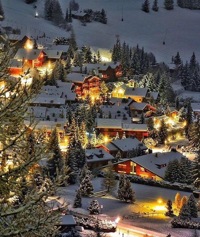 Χειμωνιάτικες εικόνες στο Verbier της Ελβετίας | Φωτογραφία της ημέρας