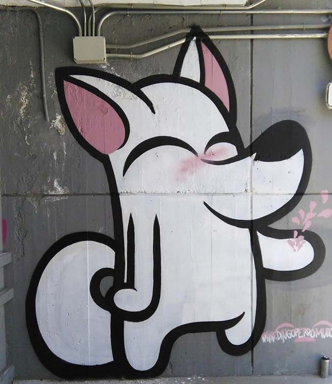 Η εντυπωσιακή Street Art του Dingo Perromudo προσφέρει μια πινελιά πρασίνου στο γκρίζο της πόλης (1)