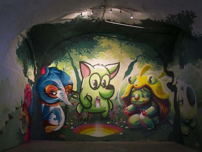 Η εντυπωσιακή Street Art του Dingo Perromudo προσφέρει μια πινελιά πρασίνου στο γκρίζο της πόλης (5)