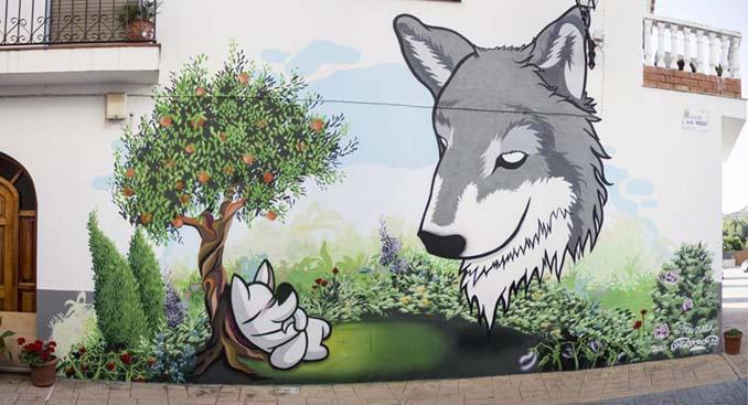 Η εντυπωσιακή Street Art του Dingo Perromudo προσφέρει μια πινελιά πρασίνου στο γκρίζο της πόλης (7)