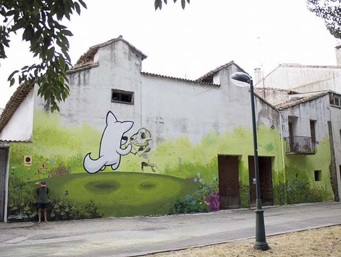 Η εντυπωσιακή Street Art του Dingo Perromudo προσφέρει μια πινελιά πρασίνου στο γκρίζο της πόλης (16)