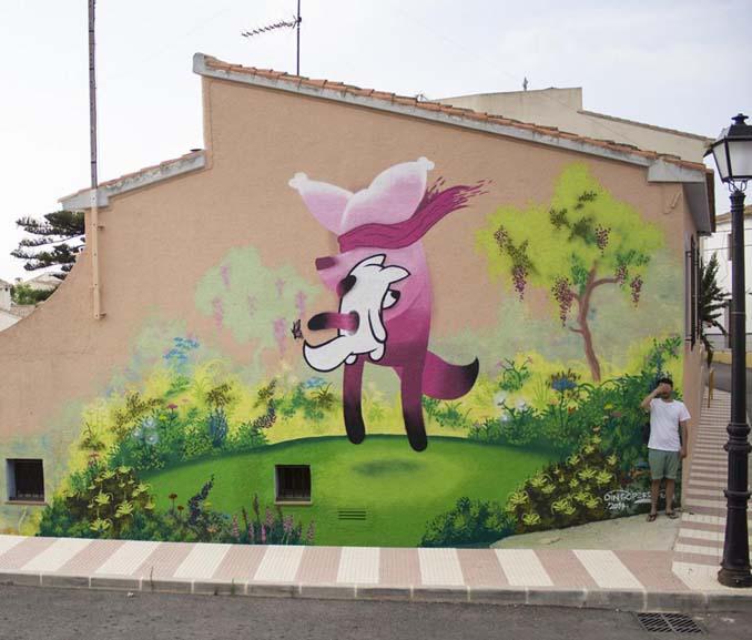 Η εντυπωσιακή Street Art του Dingo Perromudo προσφέρει μια πινελιά πρασίνου στο γκρίζο της πόλης (17)