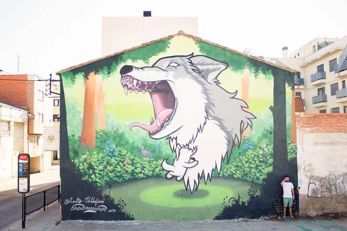 Η εντυπωσιακή Street Art του Dingo Perromudo προσφέρει μια πινελιά πρασίνου στο γκρίζο της πόλης (18)
