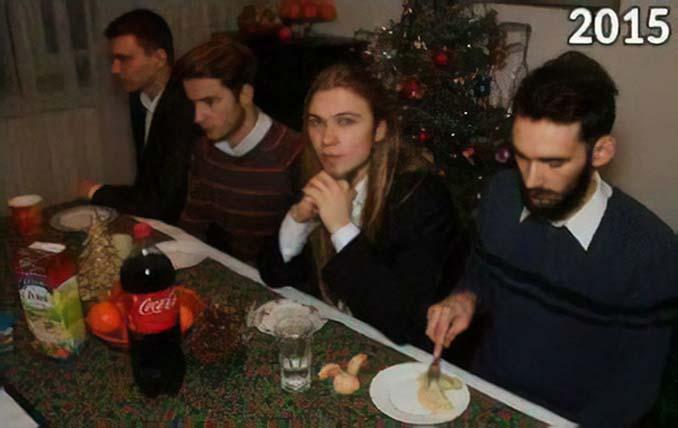 4 φίλοι βγάζουν την ίδια χριστουγεννιάτικη φωτογραφία κάθε χρόνο από το 2009 (6)