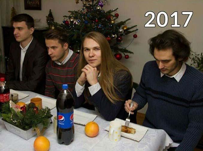4 φίλοι βγάζουν την ίδια χριστουγεννιάτικη φωτογραφία κάθε χρόνο από το 2009 (8)