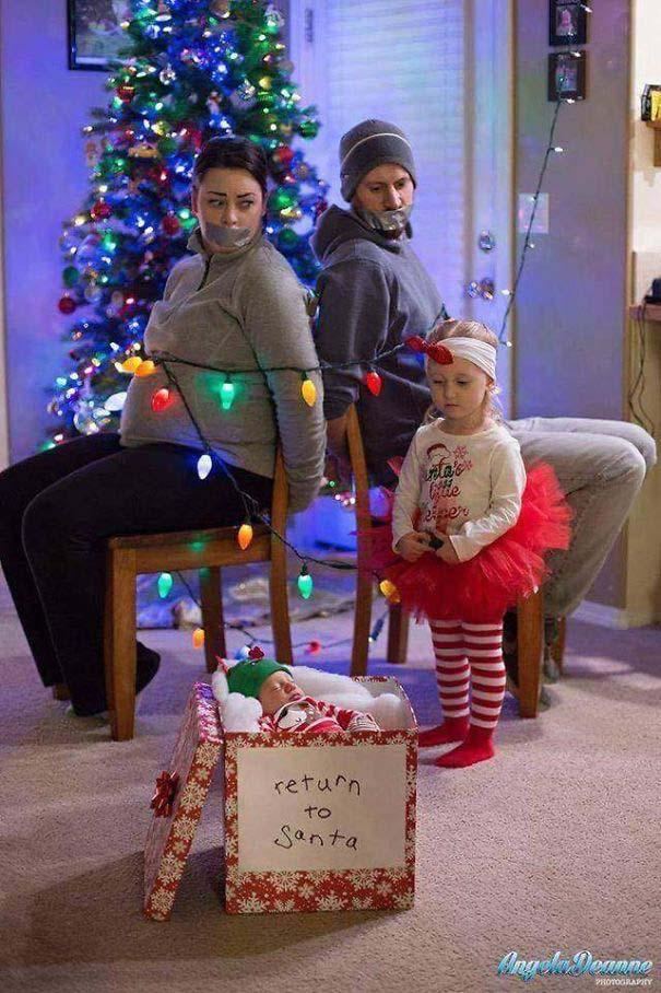 Άνθρωποι πόζαραν για ξεκαρδιστικές χριστουγεννιάτικες κάρτες (5)