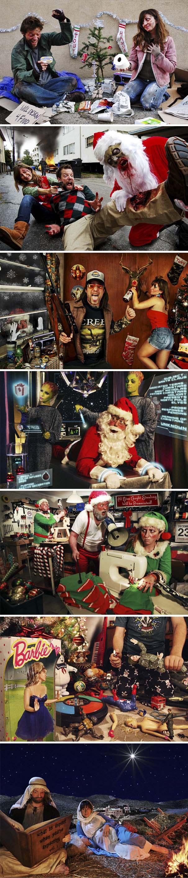Άνθρωποι πόζαραν για ξεκαρδιστικές χριστουγεννιάτικες κάρτες (12)