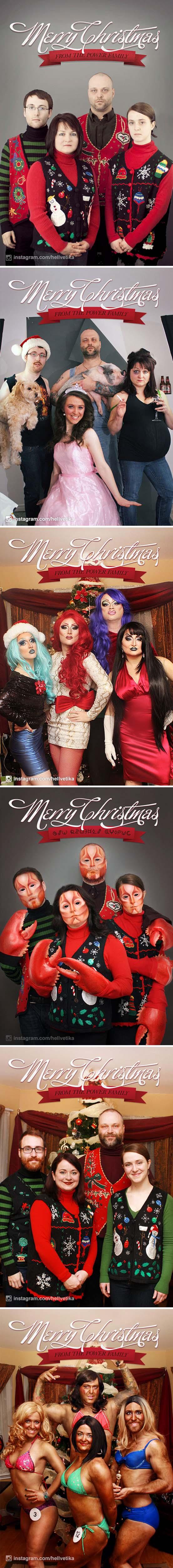 Άνθρωποι πόζαραν για ξεκαρδιστικές χριστουγεννιάτικες κάρτες (13)