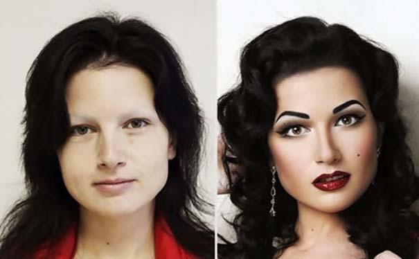 Γυναίκες με / χωρίς μακιγιάζ #25 (2)
