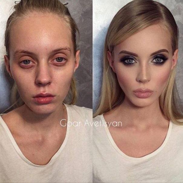 Γυναίκες με / χωρίς μακιγιάζ #25 (1)