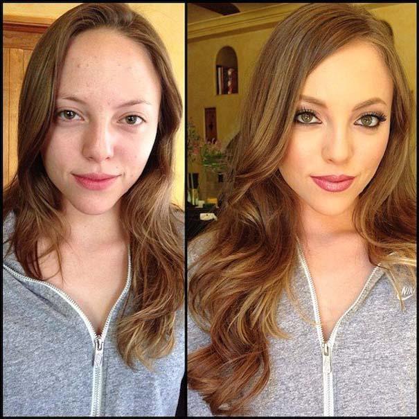 Γυναίκες με / χωρίς μακιγιάζ #25 (8)