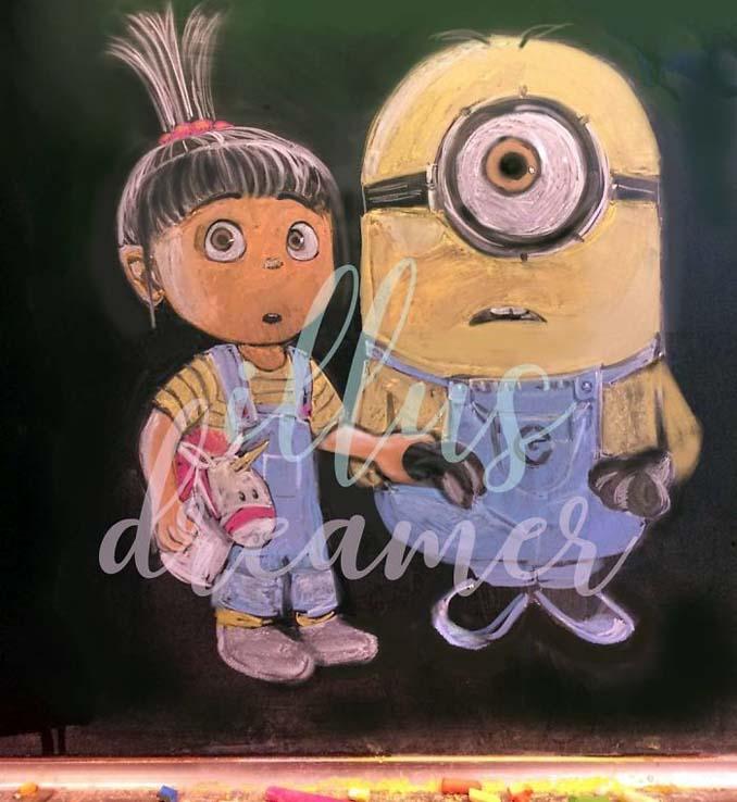 Μαθητές δημιουργούν εκπληκτικά έργα τέχνης στον πίνακα της τάξης τους (9)