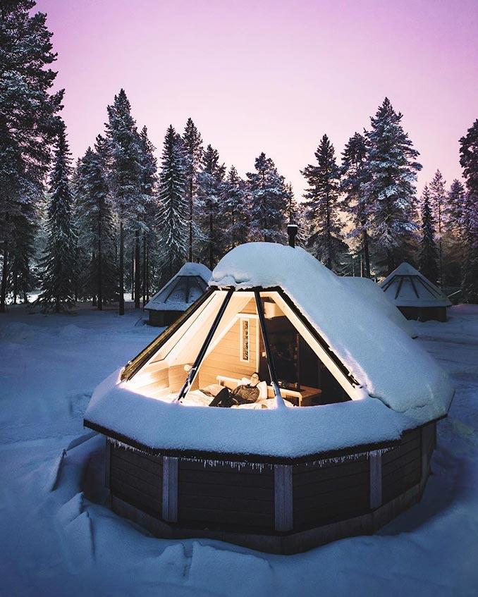 Το ιδανικό χειμερινό καταφύγιο για να θαυμάσεις τον έναστρο ουρανό | Φωτογραφία της ημέρας