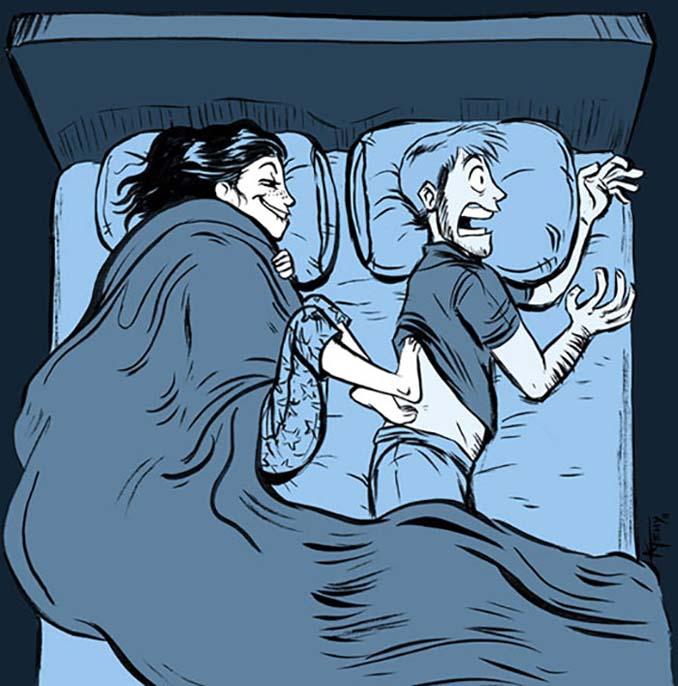 Κλασσικά προβλήματα του Χειμώνα μέσα από χιουμοριστικά σκίτσα (1)